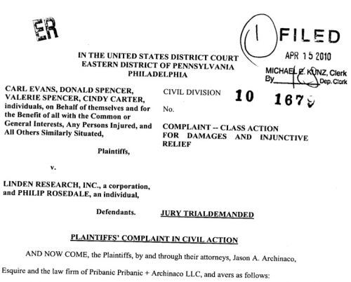 another class action lawsuit filed April 15th