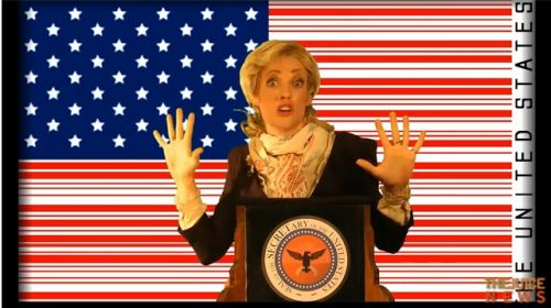 Hillary and barcode flag