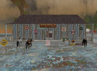 Gnash Rambler's Texas ranch in Second Life