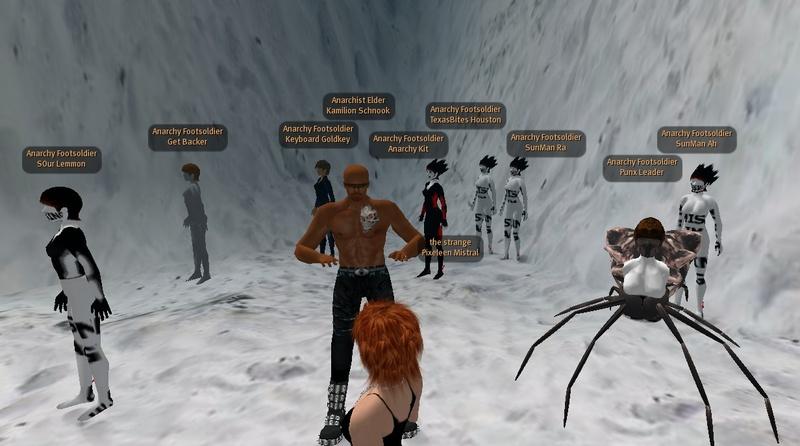 Bot-man Kamilion Schnook's underground testing facility